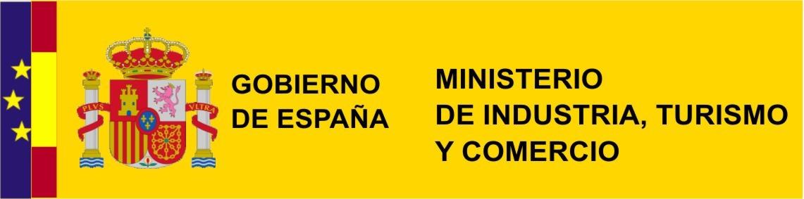 Logotipo del Ministerio de industria y turismo de España.